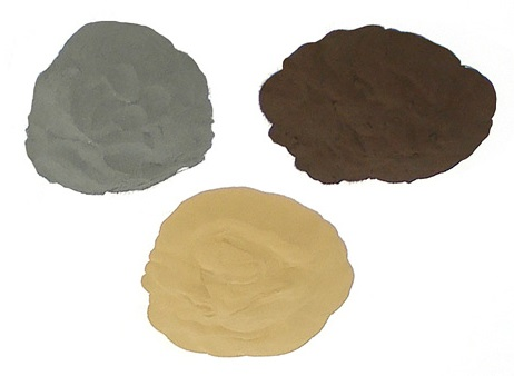 metal powder - bronze, copper, iron